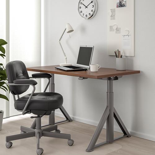 IDÅSEN escritorio sentado/de pie, 120x70cm, patas regulables
