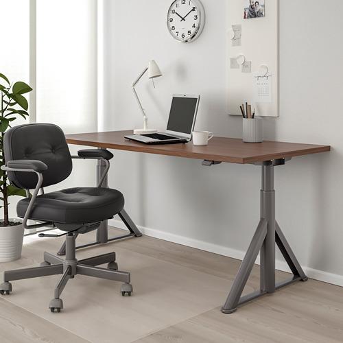 IDÅSEN escritorio sentado/de pie, 160x80cm, patas regulables