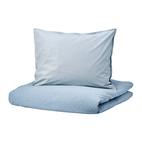 BLÅVINDA funda nórdica y funda  almohada, 200 hilos 80 y 90cm