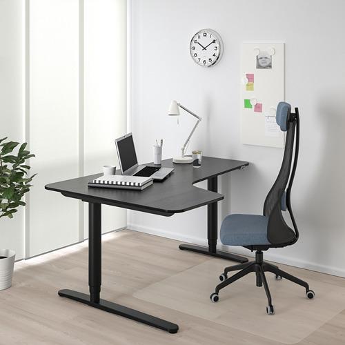 BEKANT escritorio esquina izq sentado/pie