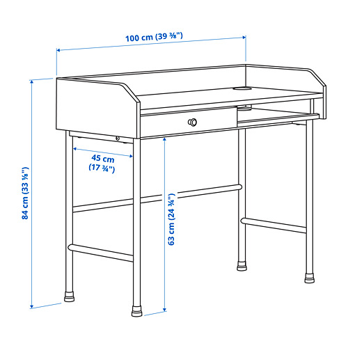 HAUGA escritorio, 100x45,3cm