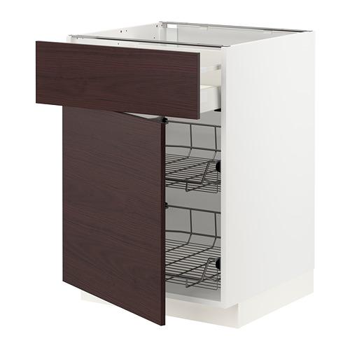 METOD/MAXIMERA armario bajo cocina cajón y cestos