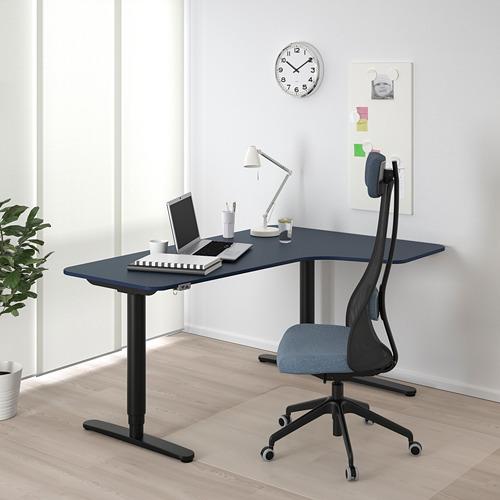BEKANT escritorio esquina der sentado/pie