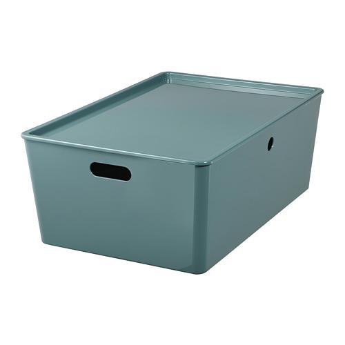 KUGGIS caja con tapa, 37x54x21cm