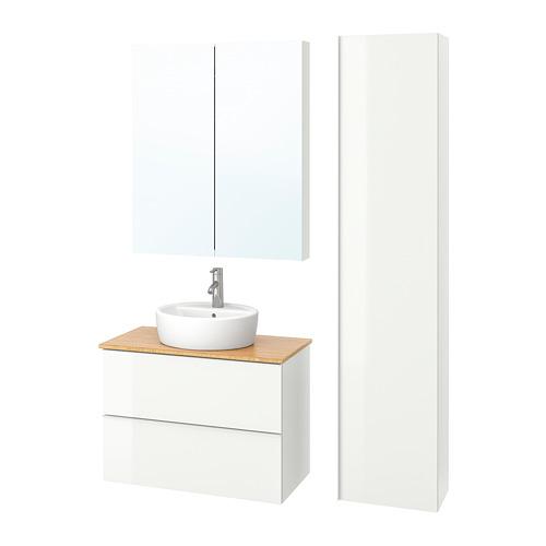 GODMORGON/TOLKEN/TÖRNVIKEN muebles de baño, juego de 6