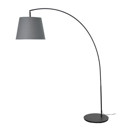 SKOTTORP/SKAFTET lámpara de pie con pantalla, en  arco