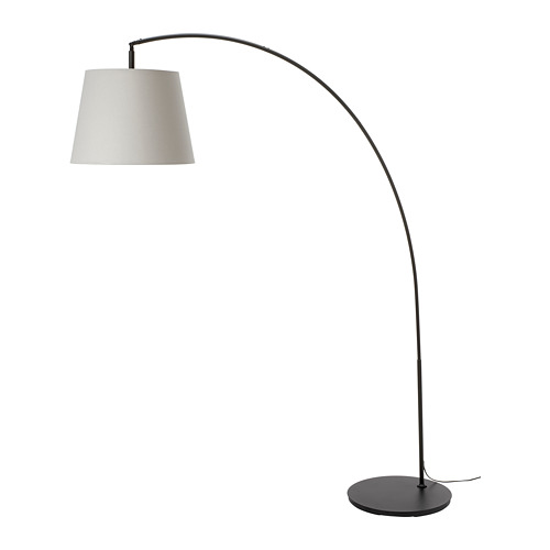 SKOTTORP/SKAFTET lámpara pie con pantalla, en arco