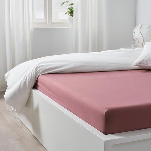 ULLVIDE sábana bajera ajustable, 160x200cm, 200 hilos