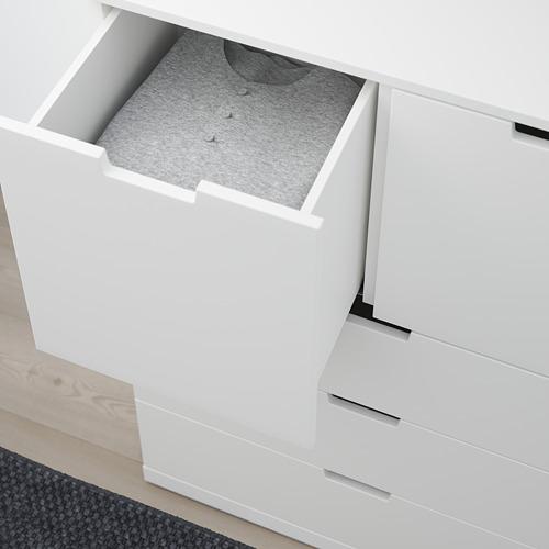 NORDLI cómoda vertical de 5 cajones, 80x47x122cm