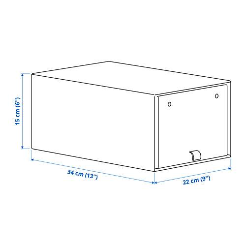 ANILINARE caja para zapatos, 34x15cm