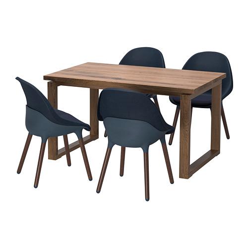 BALTSAR/MÖRBYLÅNGA mesa con 4 sillas, longitud de  la mesa 140cm