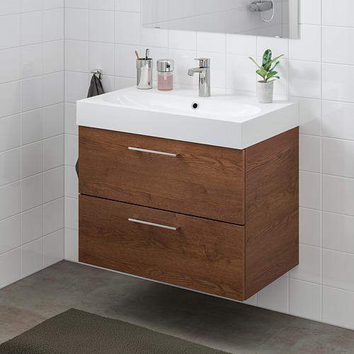 BRÅVIKEN/GODMORGON mueble de baño para lavabo con 2 cajones, 80x49x68cm