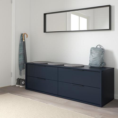 NORDMELA cómoda horizontal de 4 cajones, 159x44x50cm