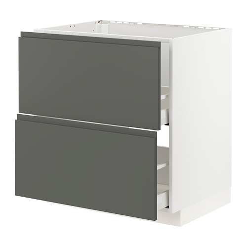 METOD/MAXIMERA armario bajo fregadero 2 cajones