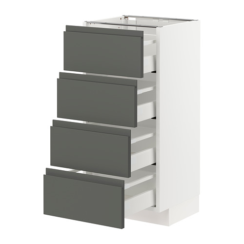 METOD/MAXIMERA armario bajo cocina con 4 cajones