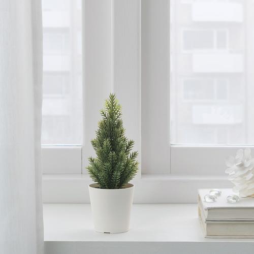 VINTER 2020 mini árbol de navidad con maceta incluida, 18cm de altura