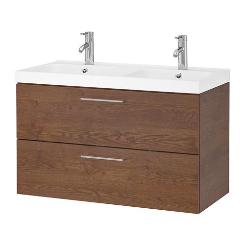 ODENSVIK/GODMORGON mueble de baño para lavabo con 2 cajones, 103x49x64cm