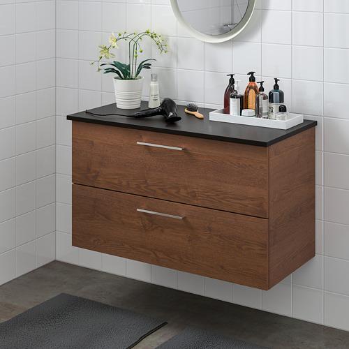 TOLKEN/GODMORGON mueble de baño con 2 cajones, 82x49x60cm