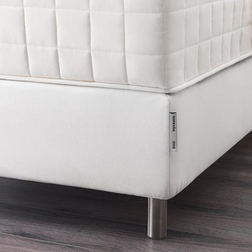 ESPEVÄR somier de láminas con funda blanca, 140cm