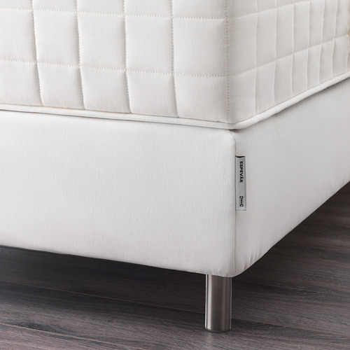 ESPEVÄR somier láminas con funda blanca, 180cm