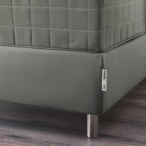 ESPEVÄR somier láminas con fuda gris oscuro, 160cm