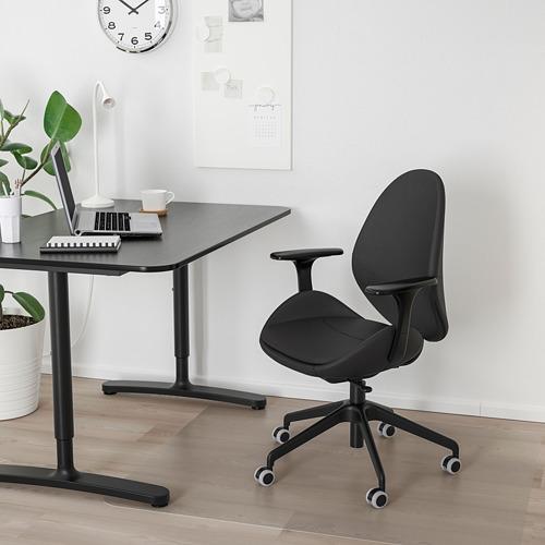 HATTEFJÄLL silla de trabajo con reposabrazos