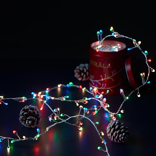 STRÅLA guirnalda LED 160 luces, 3,5m de longitud