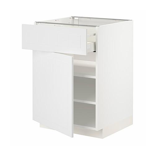 METOD/MAXIMERA armario bajo con cajón y puerta