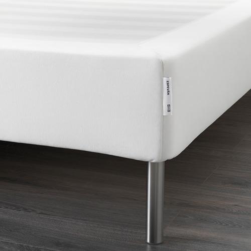 ESPEVÄR somier de láminas  con funda blanca y patas, 140cm