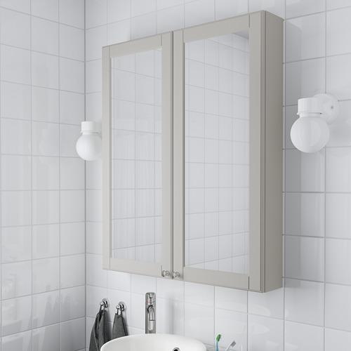 GODMORGON armario &espejo, 2 puertas