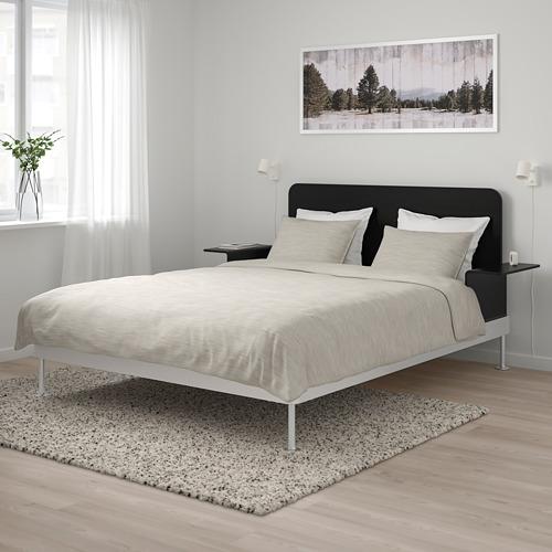 DELAKTIG estructura de cama con cabecero y  2 mesillas de noche, 160cm
