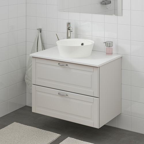 KATTEVIK/GODMORGON/TOLKEN mueble de baño para lavabo con 2 cajones, juego de 4