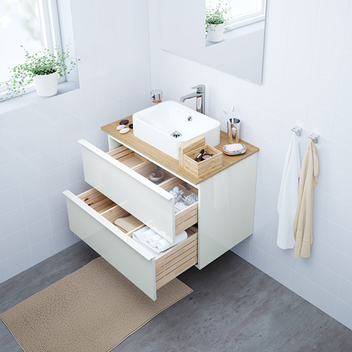 HÖRVIK/GODMORGON/TOLKEN armario/lavabo +encimera