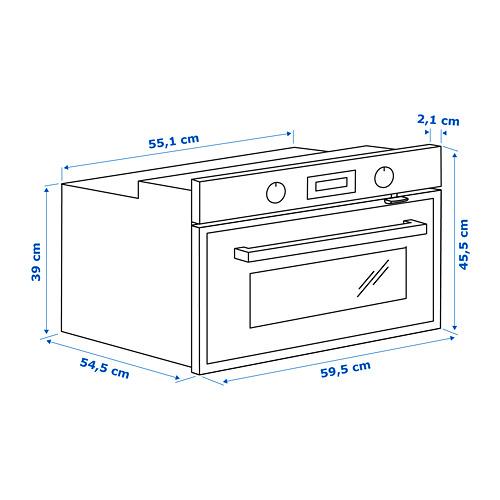 ANRÄTTA microondas combi+horno aire forzado