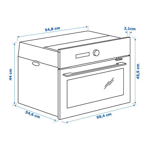 FINSMAKARE microondas combi+horno aire forzado