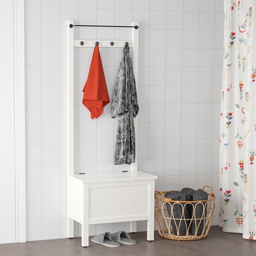 HEMNES banco/toallero 4 ganchos