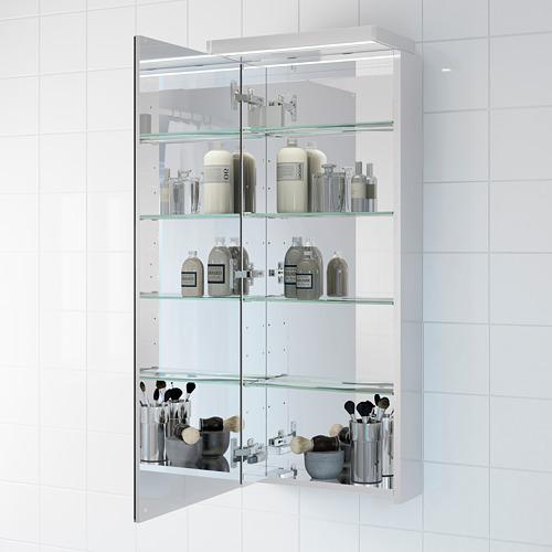 GODMORGON armario de pared con 1 puerta de espejo