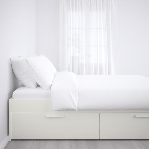 BRIMNES estructura de cama con almacenaje