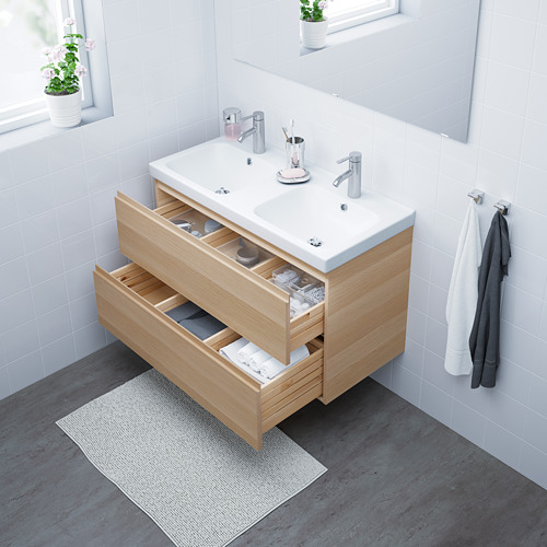 ODENSVIK/GODMORGON mueble de baño para  lavabo con 2 cajones, juego de 2