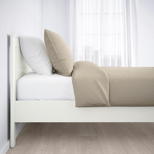 SONGESAND cama 140, estructura con somier firmeza regulable leirsund