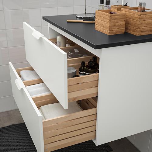 TOLKEN/GODMORGON mueble de baño con 2 cajones