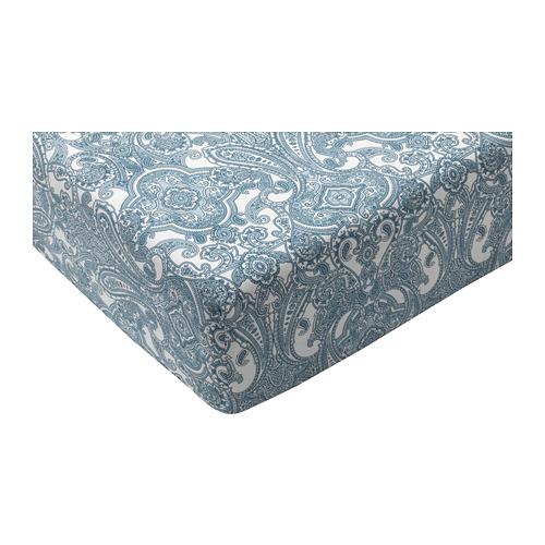 JÄTTEVALLMO sábana bajera ajustable, 152 hilos, 140cm