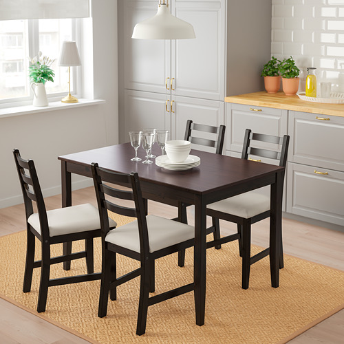 LERHAMN mesa con 4 sillas, longitud de la mesa 118cm