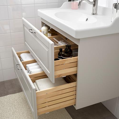 GODMORGON/RÄTTVIKEN mueble de baño para lavabo con 2 cajones, juego de 3