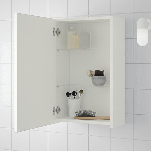 LILLÅNGEN armario con espejo, 1 puerta