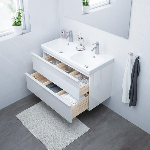 GODMORGON/ODENSVIK mueble de baño para lavabo con 2 cajones, juego de 2
