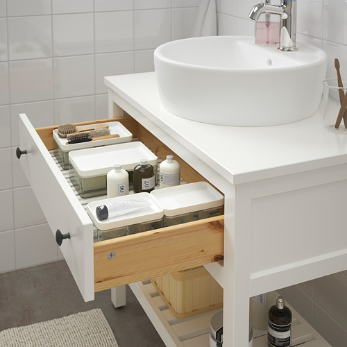 HEMNES elemento lavabo abierto 1 cajón