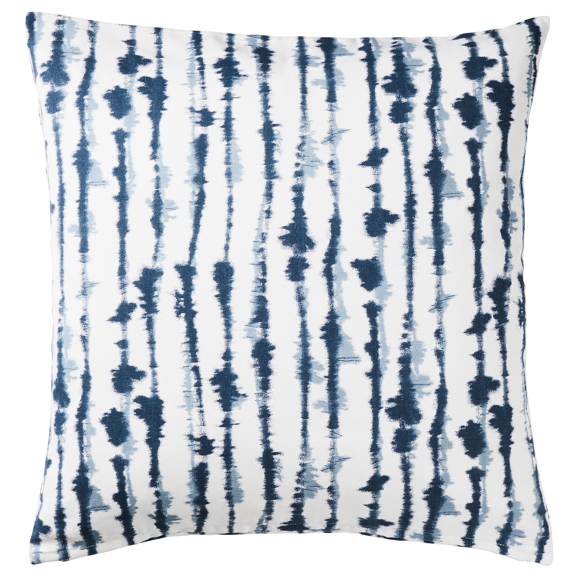 BLÅGRAN Funda de cojín, azul, blanco IKEA