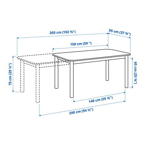 STRANDTORP mesa extensible, 205x95cm, máximo extensión 260cm