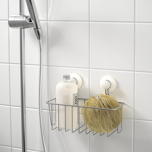 IMMELN cesta para ducha con ventosas
